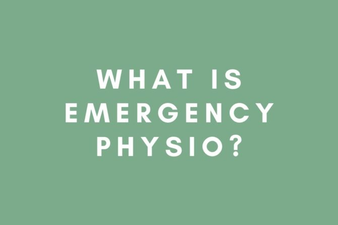 What is Emergency Physio?